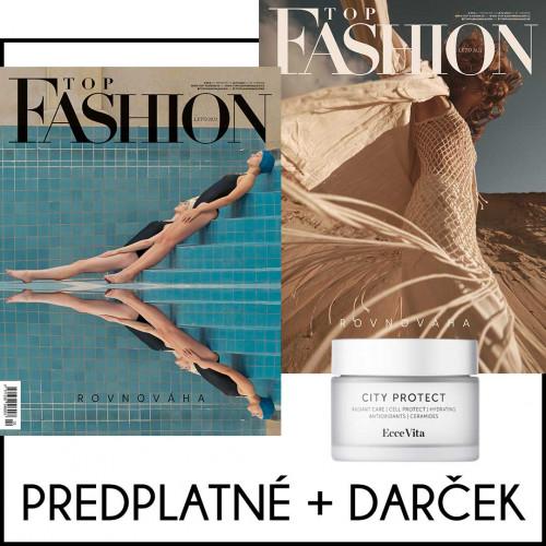 Top Fashion predplatné na rok (4 ks) + darček EcceVita - denný krém City Protect