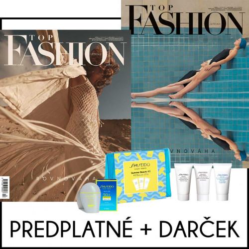 Top Fashion predplatné na rok (4 ks) + darček Shiseido Summer Beauty Kit